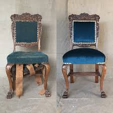 Furniture Repair in Seattle for Pair of Restored Chairs