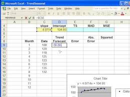 forecast model in excel trend forecasting in excel youtube
