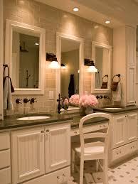 bathroom makeup lighting. example of a classic bathroom design in new york makeup lighting