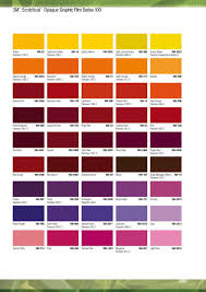 3m Scotchcal Vinyl Color Chart 3m Commercial Graphics Colour Card Reference Guide