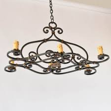 french iron chandelier with elongated form 1 500