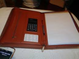 cossini premium pu leather business portfolio padfolio with zippered closure