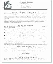 Teacher Skills For Resume Impressive Preschool Teacher Resume Sample Awesome Early Childhood Education