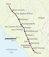 Road Map Of Southern Italy
