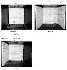Amazoncom Set Of Two Fireplace Replacement Panels 24Fireplace Refractory Panels