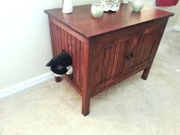 wood cat litter box odor free custom hand made in wood cat litter box cabinet no