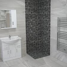 glory stone anthracite stunning dark grey decor tones bathroom wall tiles
