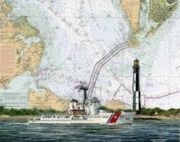 Coast Guard Chart Art Uscgc Dependable Wmec 626 Chart Art Prints