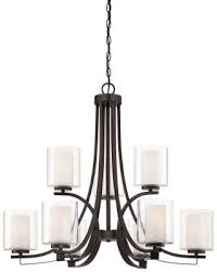 minka lavery 4109 172 parsons studio nine light chandelier smoked