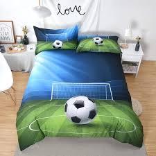 football bedding set soccer boy girl bedspread polyester bedclothes crib sets football bedding set