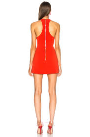 image 3 of david koma patent leather mini dress in red
