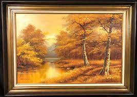 Lot - PHILIP CANTRELL (1922-Now) ORIGINAL OIL ON CANVAS LANDSCAPE FRAMED  PAINTING- 31in x 42in