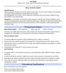 Real Estate Agent Resume Resume Template Ideas