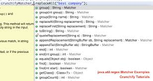 Java Pattern Matcher Example