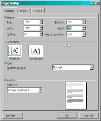 margins for resume