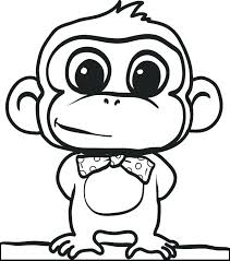 Monkey Coloring Page For Kids Related Post Coloring Pages Printable