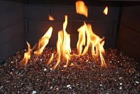 picture of copper reflective fire glass