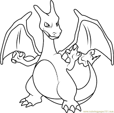 Small Picture Charizard Pokemon Coloring Page Free Pokmon Coloring Pages