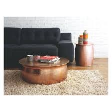hammered coffee table awesome living room with black velvet sofa and round rose gold hammered coffee