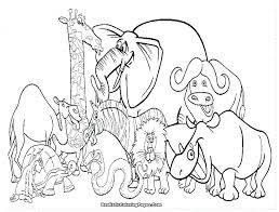 Safari Animals Coloring Pages Animal Preschool African Pizzafoodclub