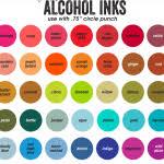 Tim Holtz Alcohol Ink Color Chart Tim Holtz Alcohol Ink Chart Printable Alcohol Ink Art