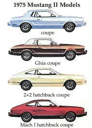 17 best images about mustang 2nd gen 1974 to 1978 ford ads and period pictures 1975 ford mustang ii models art jpg picture from the old car manual project photos brochures manuals pictures diagrams