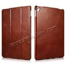 icarer vine series genuine leather smart stand case for apple ipad pro 9 7inch brown us 51 99