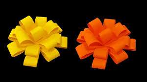 Make Easy Paper Flower How To Make Paper Flower Bow Very Easy Hd