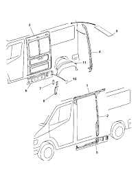 2003 dodge sprinter 2500 left side cargo door pillars wheelhouse diagram i2216137
