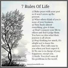 Wisdom Quotes Lessons Learned In Life 40 Rules Of Life OMG Awesome 7 Rules Of Life Quote
