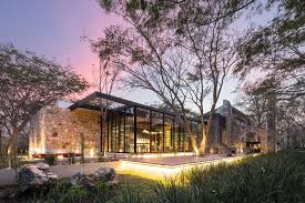 modern restaurant building. Perfect Building This Modern Restaurant In Mexico With Plenty Of Glass And Wood Has Been  Built On Modern Restaurant Building D