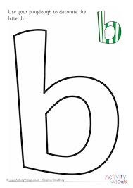 alphabet decorate the letter b playdough mat lowercase 460 2