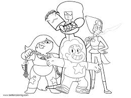 Steven Universe Coloring Pages Characters Free Printable Coloring