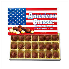 american souvenir and boldly claim the stars and stripes package whole macadamia nuts chocolate nuts perfect for gifts