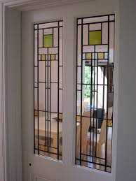 art deco leaded glass door panels