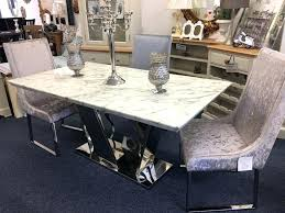 table and 6 chairs white marble dining white