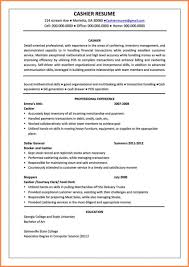 Cashier Resume Description Cashier Sample Job Description Resume Examples Unique Mcdonalds Of 33