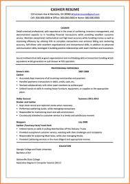 Job Description For Cashier For Resume Templates Resume Job Description For Fast Foodashier Sample 19