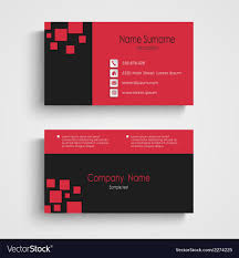 Modern Sample Business Card Template Royalty Free Vector