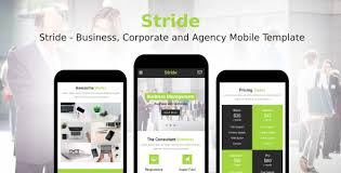 Mobile Website Template Fascinating Stride Business Corporate And Agency Mobile Template By Rabonadev