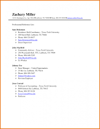 Resume References List Template Sample Reference Page Wo Saneme How