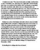 value college education argument essay essay example on importance of education in the modern world