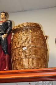 lot 198 a wicker snake charmer laundry basket