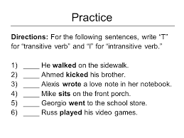 Photos: Intransitive And Transitive Practice, - Gallery Photos ...