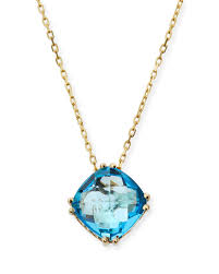 kalan by suzanne kalan14k swiss blue topaz pendant necklace