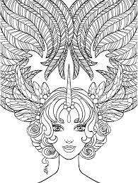 Beautiful Woman Coloring Pages At Getdrawingscom Free For
