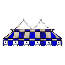 nfl dallas cowboys stained glass pool table light
