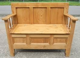 bench box seat pine hall settle bench storage box seat sold wood bench storage seat garden bench box