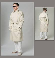 Trench Coat Pattern Gorgeous Vogue Patterns 48 Men's Coat And Belt