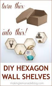 easy diy hexagon wall shelves for under 15 makinglemonadeblog com